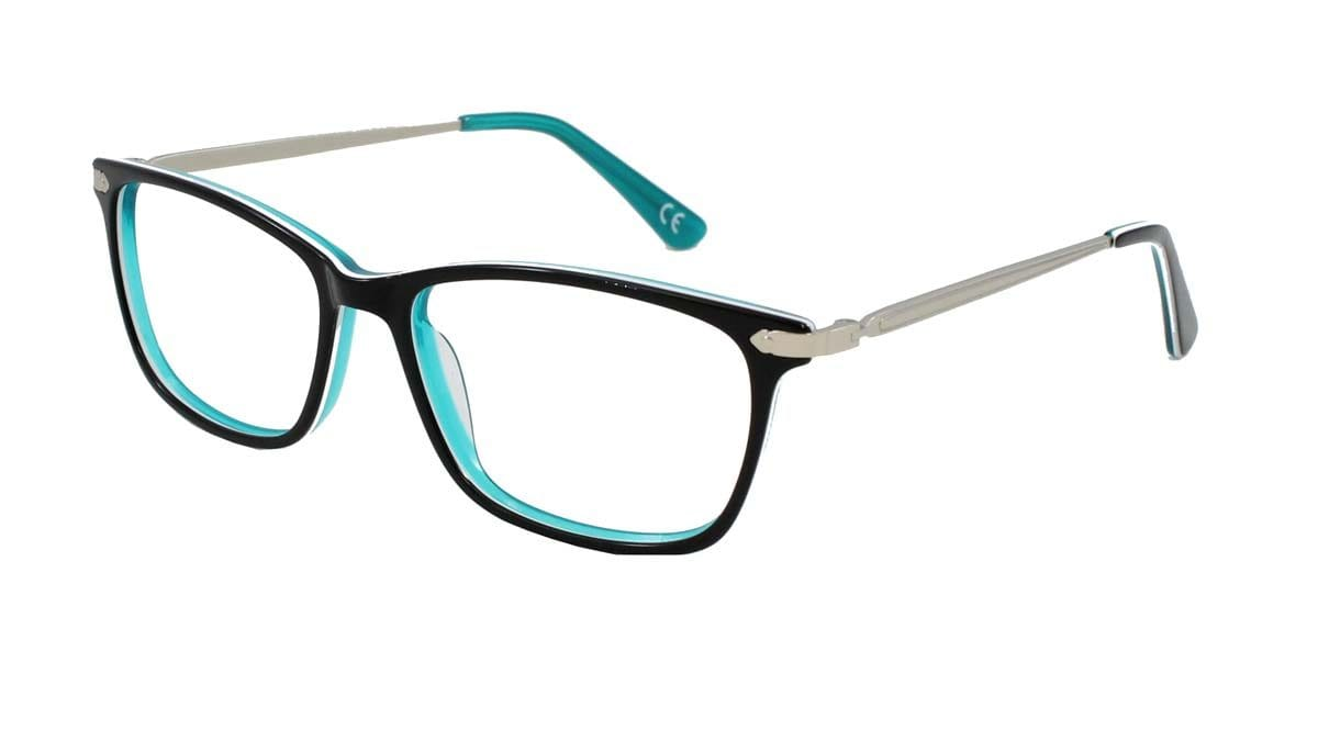 Lara Black Green Frame