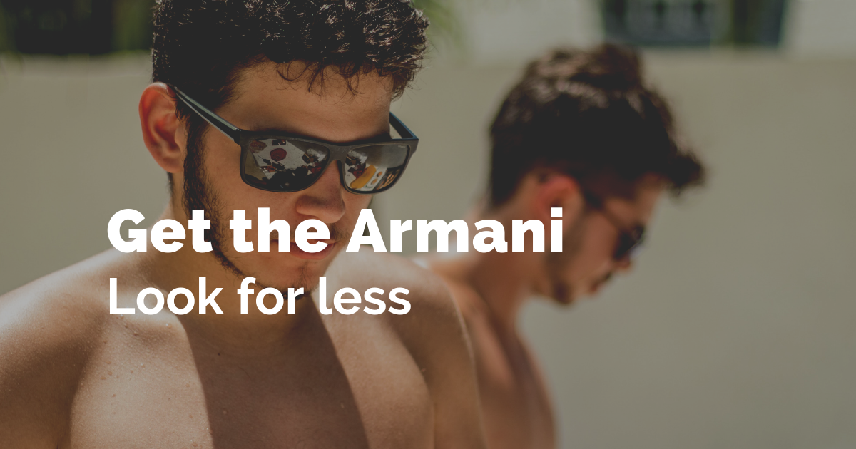 Get the Armani look for less