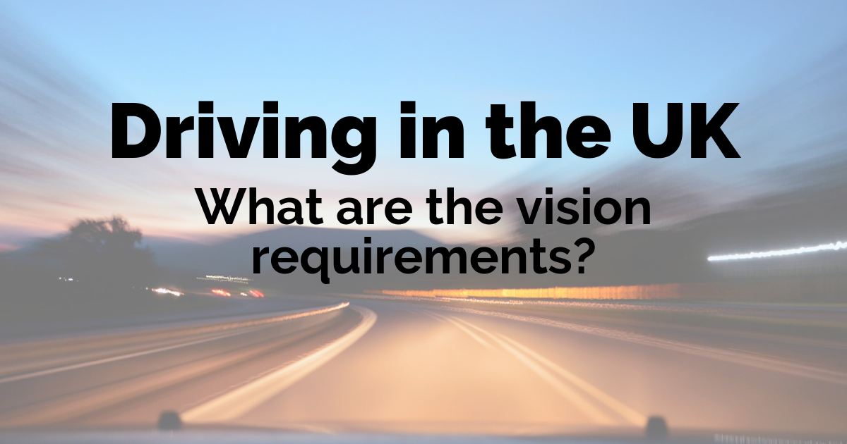 What are the UK standards of vision for driving?