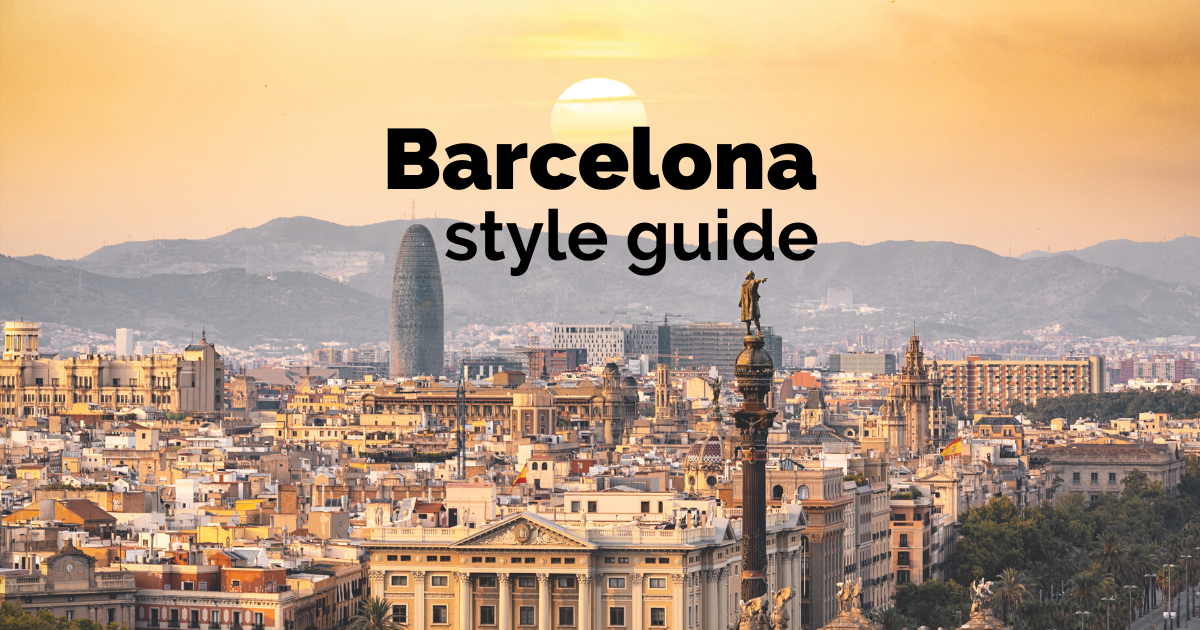 barcelona style guide fashion