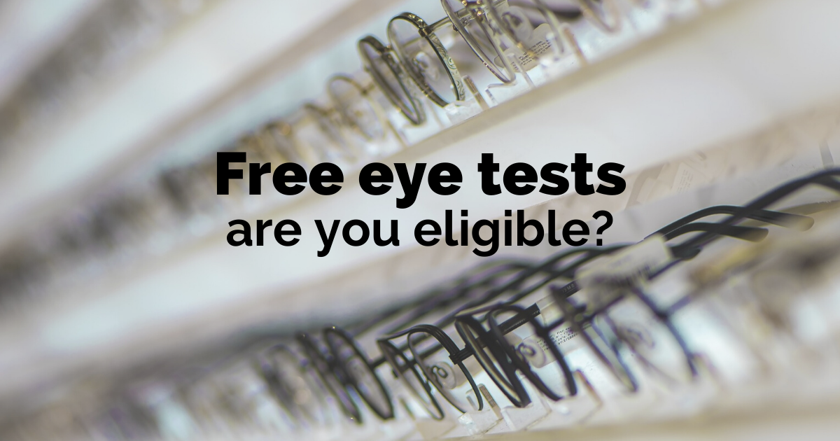 Who is entitled to a free eye test?