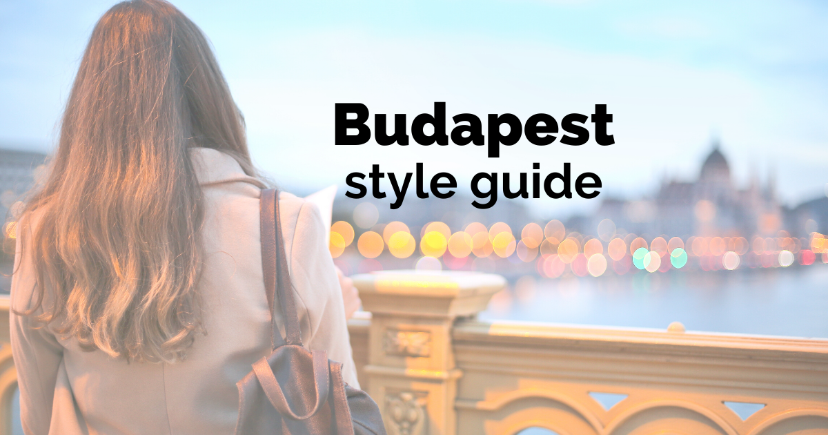 Budapest style guide