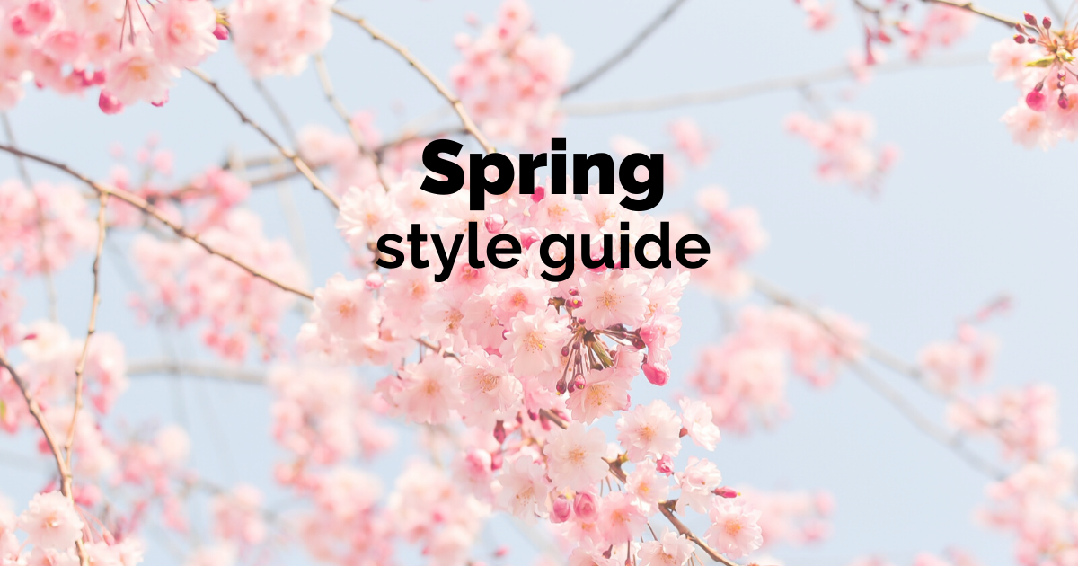 spring style guide 2020
