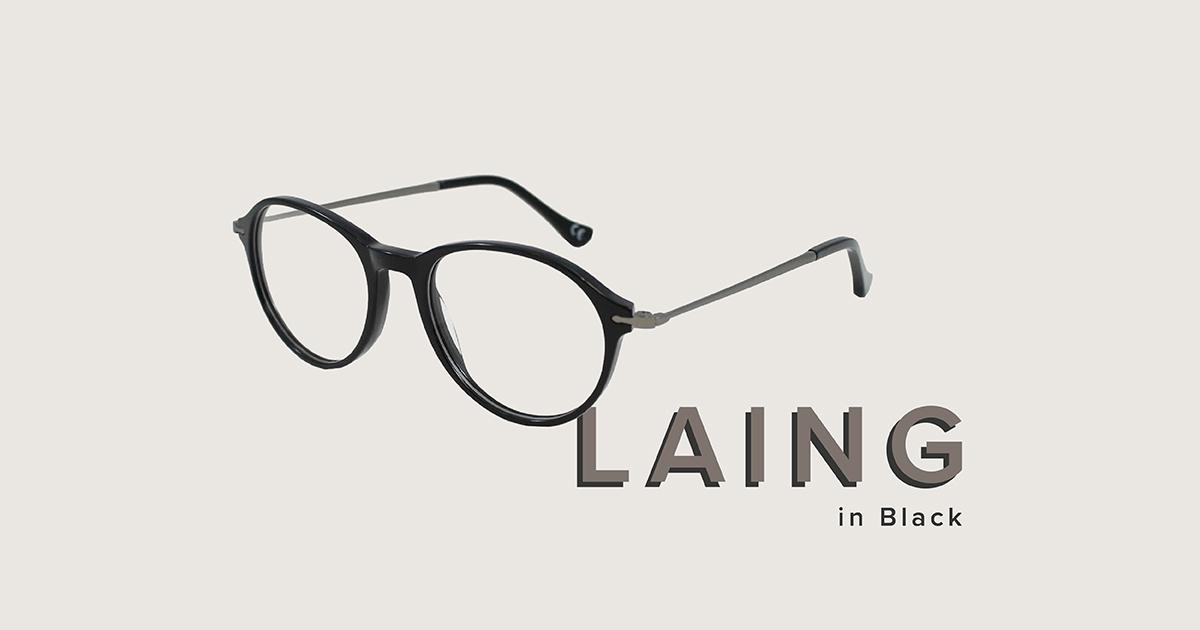 Laing frames in black