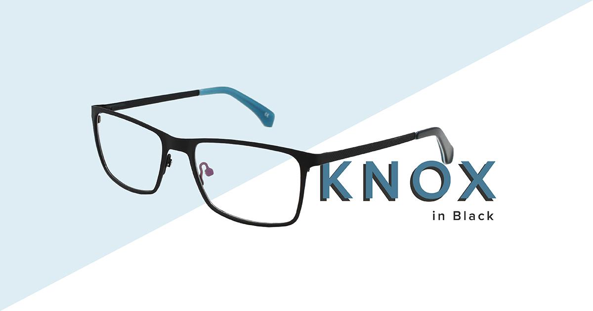 Knox frames in black