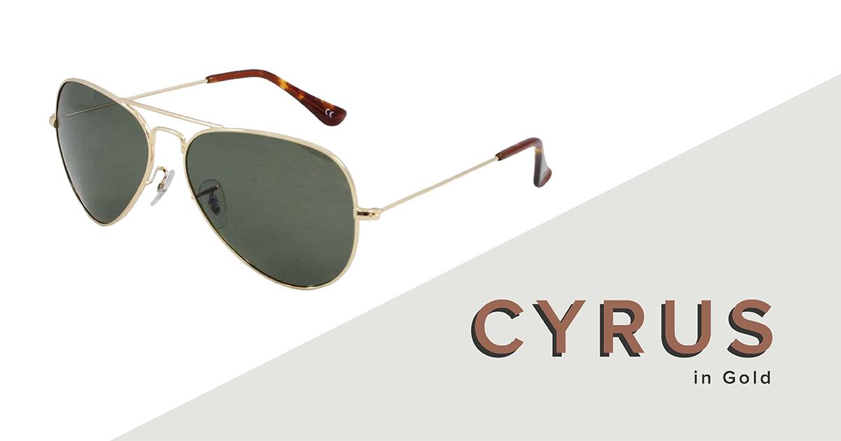 Cyrus sunglasses in gold