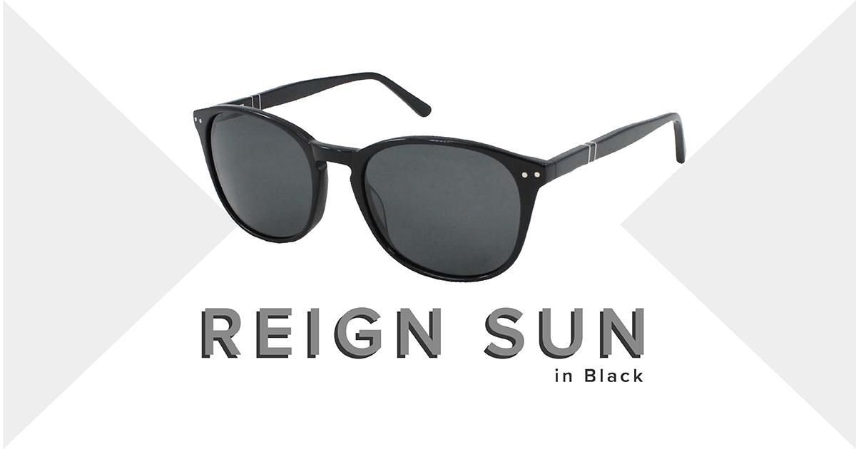 Reign sunglasses in black