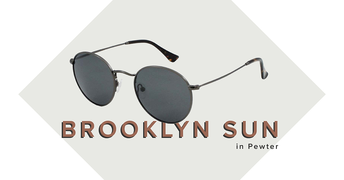 Brooklyn sunglasses in Pewter