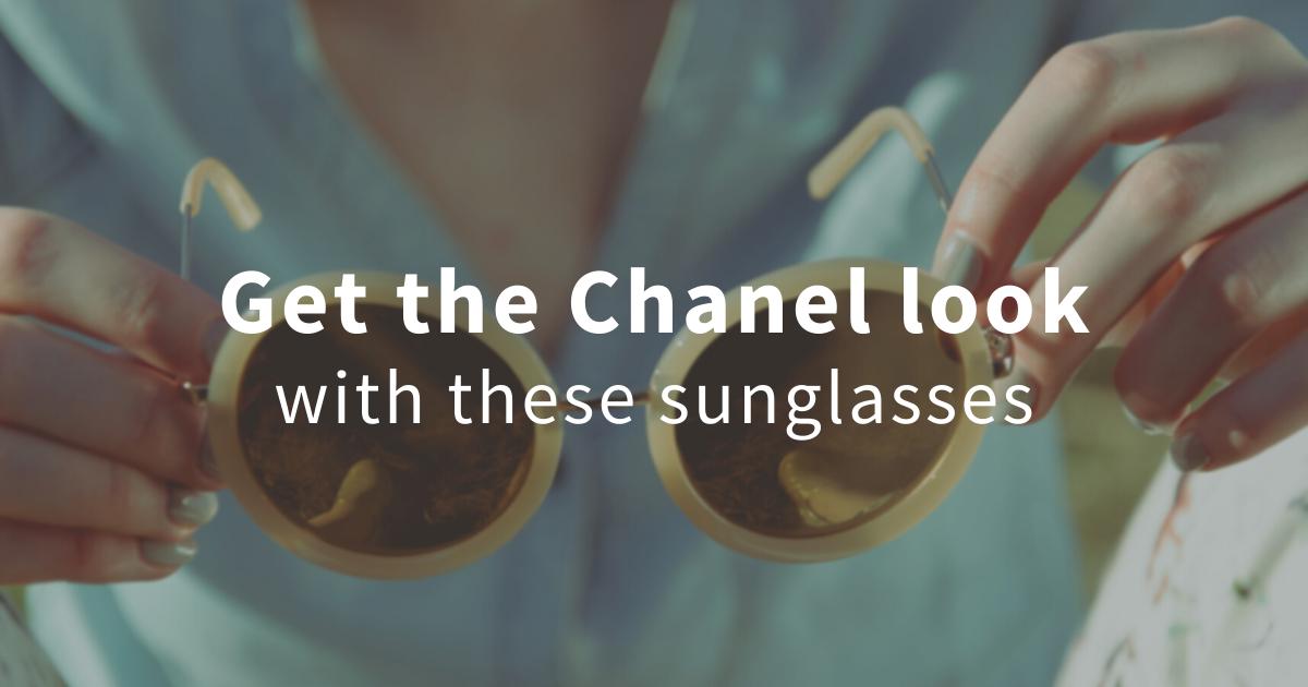 chanel style sunglasses